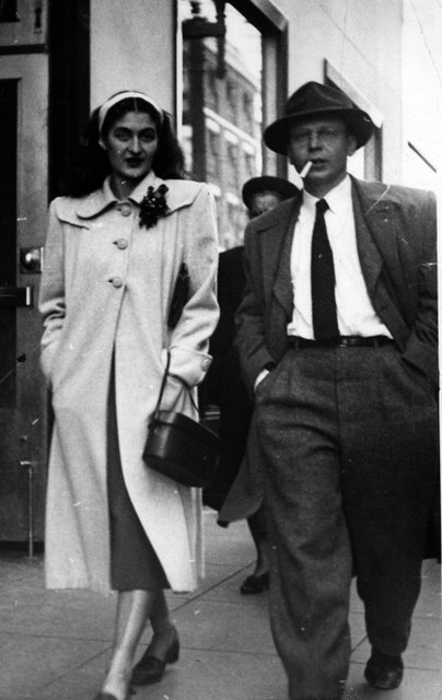 Black & White photo of Blanche & Lou from the 40's or 50's